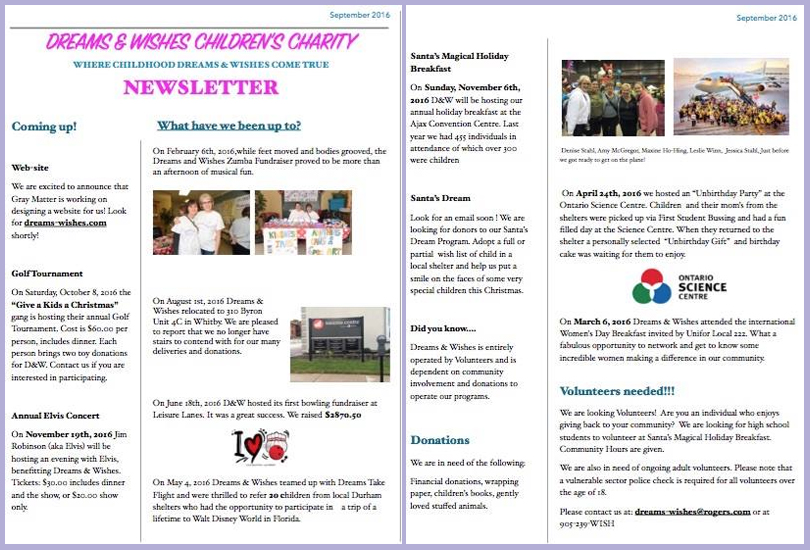 Newsletter – September 2016